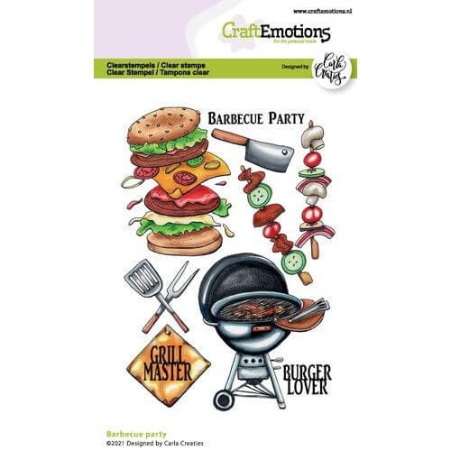 CraftEmotions Clear Stamp A6 - Barbecue Party