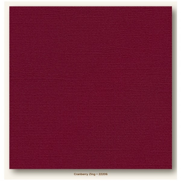 My Colors Glimmer Cardstock 216g/m² Cranberry Zing 30,5x30,5cm