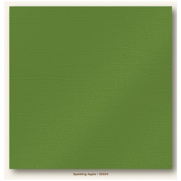 My Colors Glimmer Cardstock 216g/m² Sparkling Apple 30,5x30,5cm