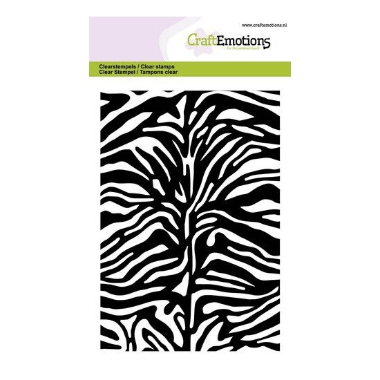 CraftEmotions Clear Stamp A6 - Tiger Zebra print