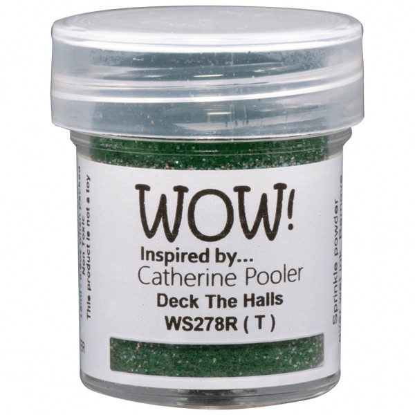 WOW! Embossing Powder Deck The Halls 15 ml - Embossing Pulver
