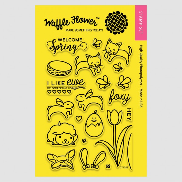 Waffle Flower - Clear Stamp Set - 271055 Welcome Spring 23 tlg
