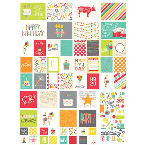 Simple Stories - Lets Party - SNAP Pack 126 tlg