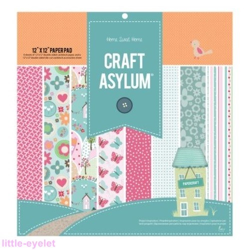Craft Asylum - Home Sweet Home - Paper Pad 12 x 12 Inch