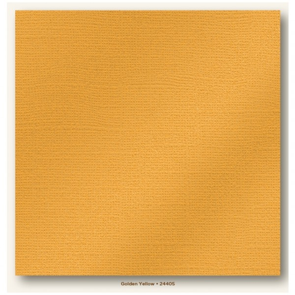 My Colors Glimmer Cardstock 216g/m² Golden Yellow 30,5x30,5cm