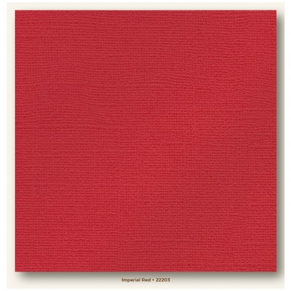 My Colors Glimmer Cardstock 216g/m² Imperial Red 30,5x30,5cm