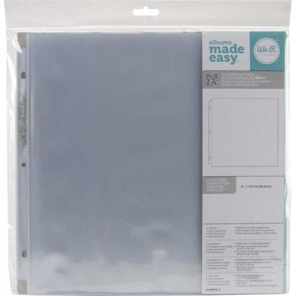 We R Memory Keepers Page Protectors 12 x 12 Inch 10 tlg
