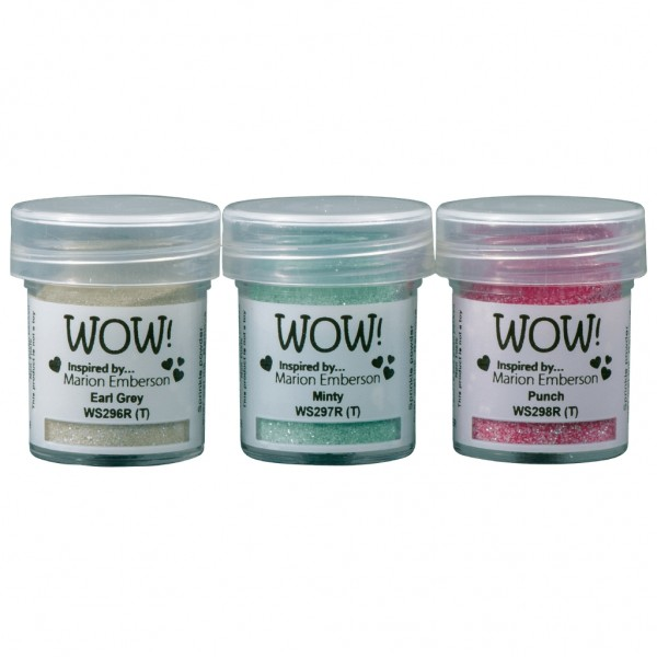 WOW! Trio Pick Me Up Embossing Powder Set 3 x 15 ml - Embossing Pulver