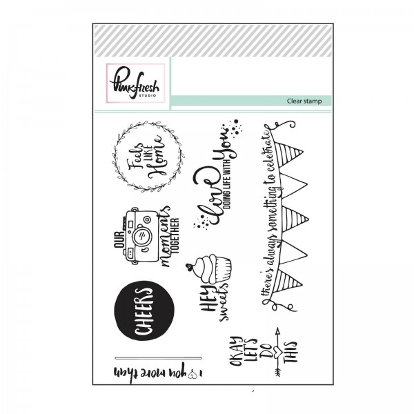 Pinkfresh Studio - Clear Stamp - Lets Do This - 8 tlg