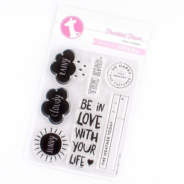 """Freckled Fawn Clear Stamp """"Be in Love with your Life"""" 7tlg by Hero Arts"""