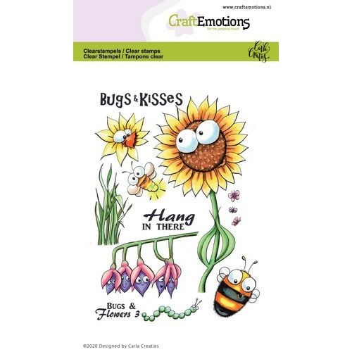 CraftEmotions Clear Stamp A6 - Bugs and Flowers 3