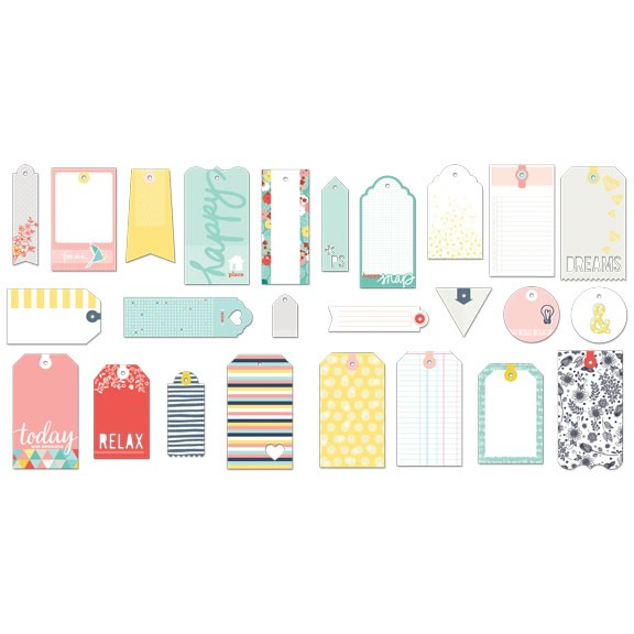Fancy Pants - Happy Place - Tags Pack 35 tlg