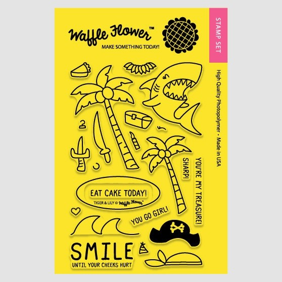 Waffle Flower - Clear Stamp Set - 271038 Tiger & Lily 22 tlg